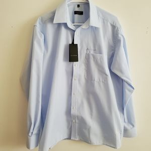 ETERNA Dress Shirt size 16 light blue